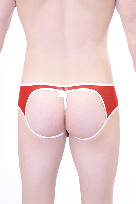 Jockstring Transparent Rouge PQ161136
